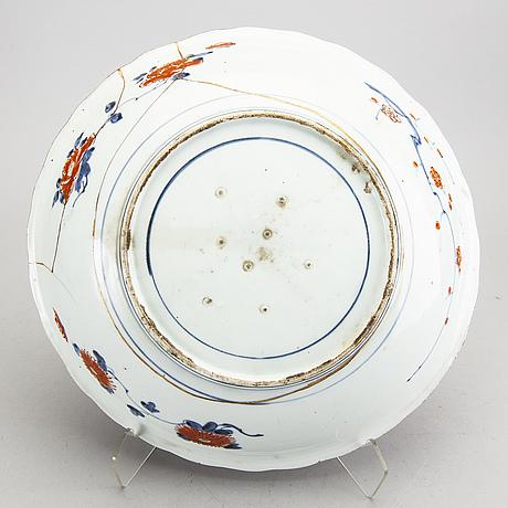 Skål samt fat imari japan 1800-tal porslin.