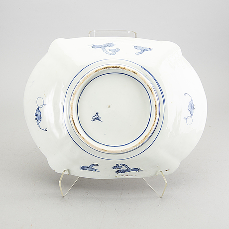 A japanese 19th century imari porcelain  plate and bowl.
