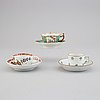 1+1+1 porcelaine cups with saucers, including meissen, circa 1800.