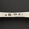 A danish silver rococo sandwich-/fish-spade, mark of jacob moinichen, copenhagen 1776.