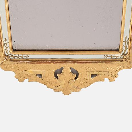 A rococo mirror, second half of the 18th century.