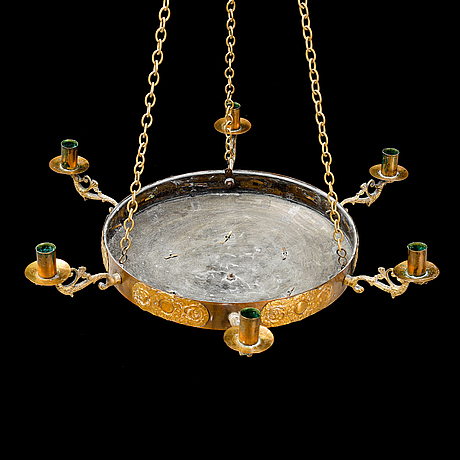 A late 19th century empire style ceiling light.