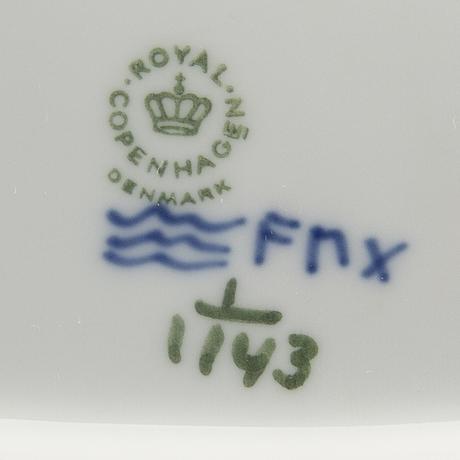 Servis 27 dlr musselmalet helblonde royal copenhagen danmark porslin 1900-talets andra hälft.