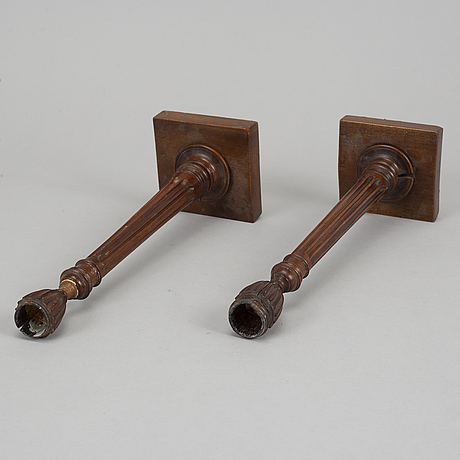 Two candlesticks, probably england. early 19th century.