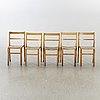 A set of five chairs mid 20th century.