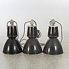 Industrilampor, 3 st, 1900-talets mitt.