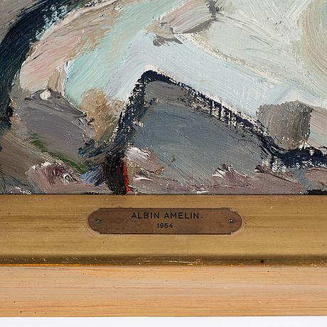 Albin amelin, oil on canvas, signed and dated -54.