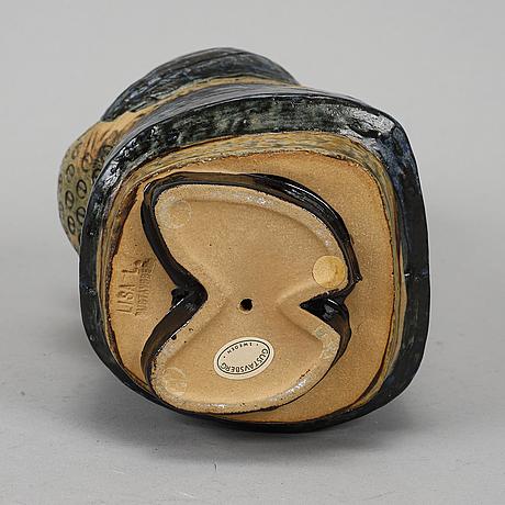 Lisa larson a 'japanska' stoneware figurine, gustavsberg, sweden 1958-73.
