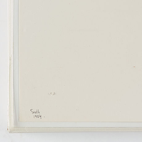 Jan groth, paste on paper, signed jan grioth and dated 1984.