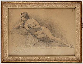 Ernst Josephson, pencil, signed Ernst Josephson and dated oktober 1873.