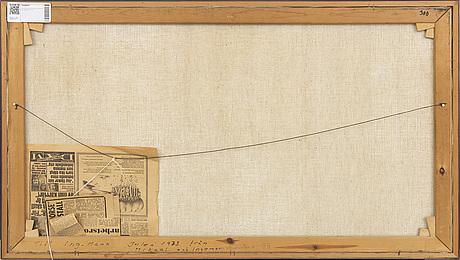 Lars grönfelt, oil on canvas signed and dated 73.
