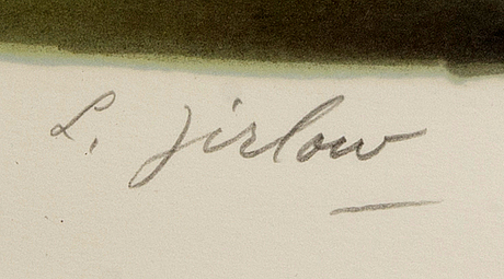 Lennart jirlow, color lithograph, baker, 229/310.