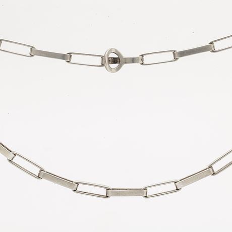 Karl-ingemar johansson, necklace silver, göteborg 1999, 90,7 g, approx 65 cm.