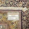 A silk ghom carpet ca 152 x 107 cm.