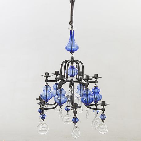Erik höglund, chandelier, glass.