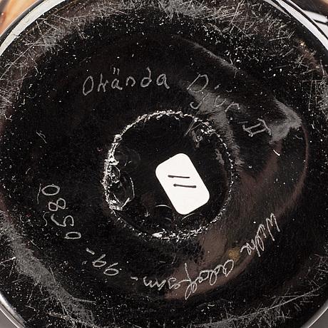 Wilke adolfsson, vas, signerad glas.