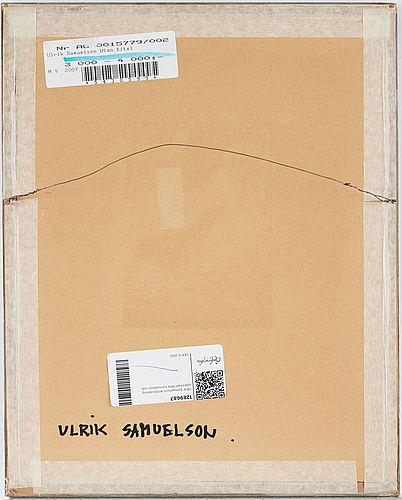Ulrik samuelson, chalk drawing, signed ulrik samuelson.