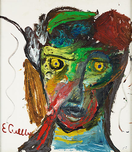 Erland cullberg, oil on canvas, signed e. cullberg.