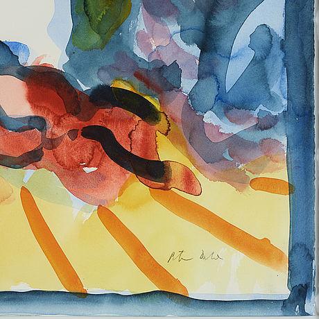 Peter dahl, watercolour, signed peter dahl.