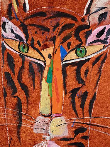 Madeleine pyk, oil on canvas signed m. pyk.
