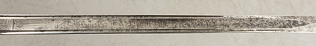 A sword manufactured in toledo, spain, 19th century.
