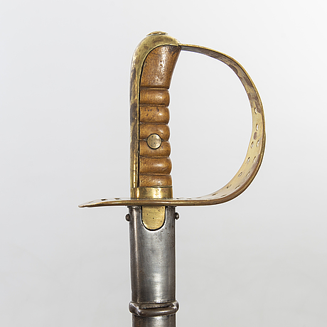 A pair of swedish cavalry sabres 1867 pattern with scubbards.