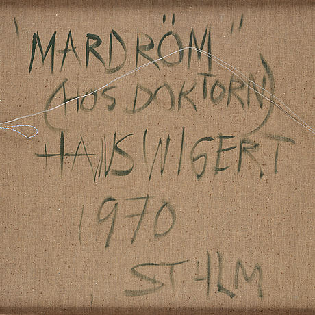 Hans wigert, oil on canvas, signed hans wigert and dated 1970 verso.
