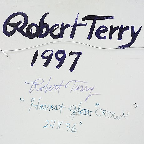 Robert terry, oil on panel, verso signed robert terry and dated 1977.