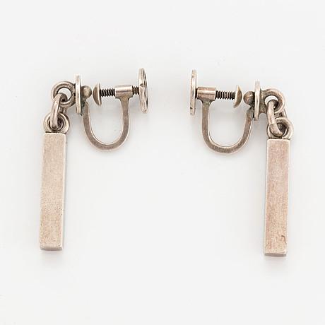 Wiwen nilsson, örhängen, ett par, silver.