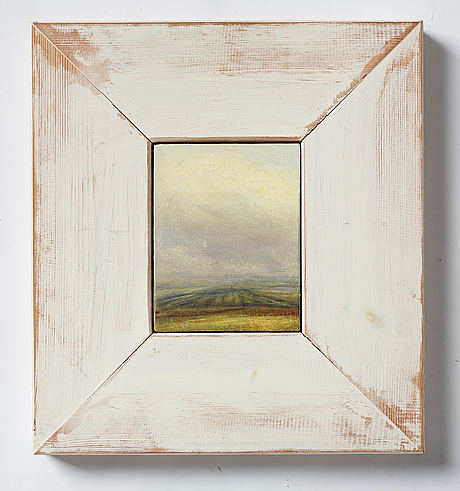 Peter frie, oil on panel, signed and dated -92 on verso.