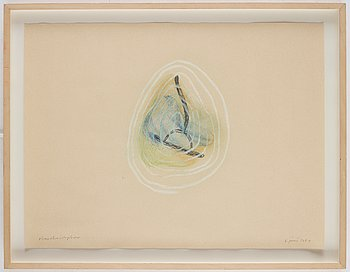 Olav Christopher Jenssen, mixed media on paper, signed and dated 6 juni 1989.