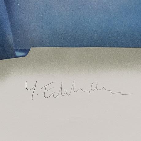 Yrjö edelmann, litografi, signerad och numrerad 860/1500.