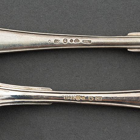 29 pieces swedish silver cutlery 'svensk spetsig', including cg hallberg,stockholm 1915.