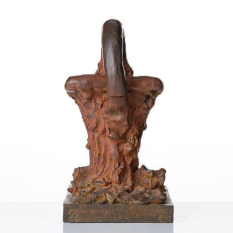 Sivert lindblom, sivert lindblom, bronze sculpture, signed sl, numbered 1/6, dated 1986. untitled. foundry mark h bergman cire perdue. height 36 cm...
