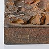 Sivert lindblom, untitled. signed sl, numbered 1/6, daterad 1986. patinated bronze, h...