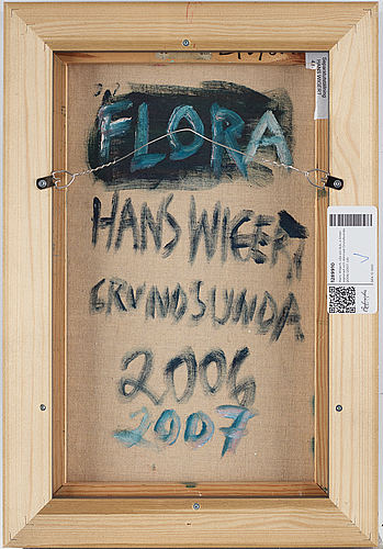 Hans wigert, oil on canvas, verso signed and dated grundsunda 2006/2007.