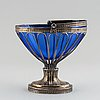 A swedish empire silver basket, mark of per olof bäckström, gävle 1827.