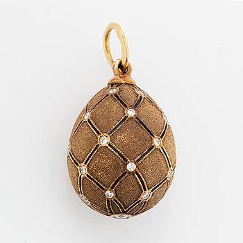 W.A. Bolin, pendant egg with brilliant-cut diamonds.