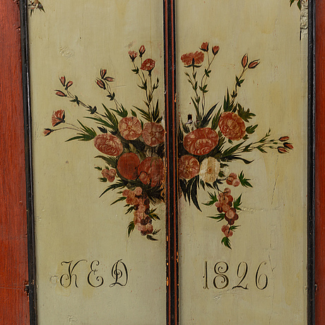 A painted cabinet from jämtland, dated 1826.