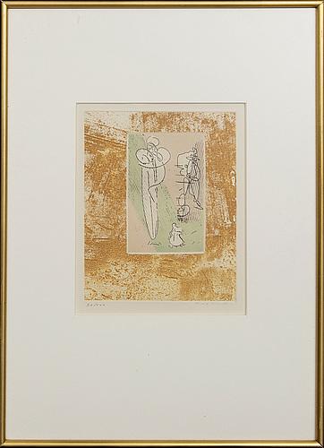 Max ernst, litografi, numrerad  70/100 samt signerad,