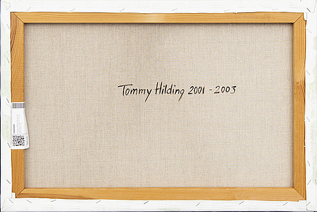 Tommy hilding, oil on canvas, signed a tergo.