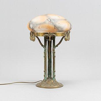 Bordslampa, jugend, tidigt 1900-tal.