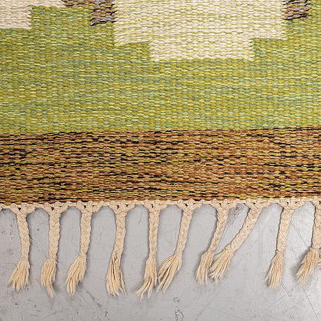 Ingegerd silow, a carpet, flat weave, ca 285,5-286,5 x 196-198 cm, signed is.
