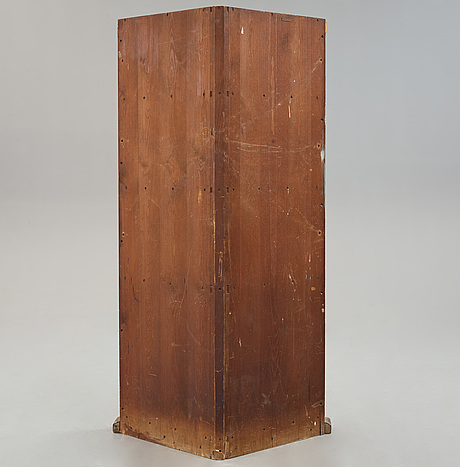 "Axel einar hjorth, a stained pine ""sandhamn"" corner cabinet, nordiska kompaniet, sweden 1931, provenance brostugan, drottningholm."