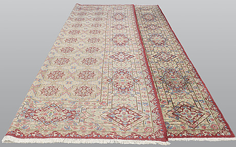 A carpet, kerman, ca 460 x 340 cm.