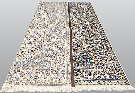 A carpet, nain part silk so called 9laa, ca 375 x 244 cm.