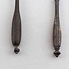 Two swedish silver soup ladles, including nils tornberg, linköping 1801.