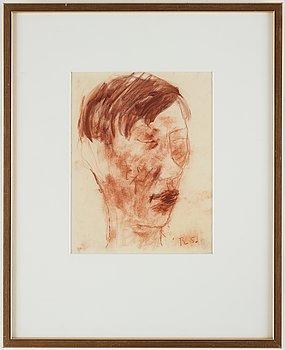 Ragnar Sandberg, red crayon, signed R.S.
