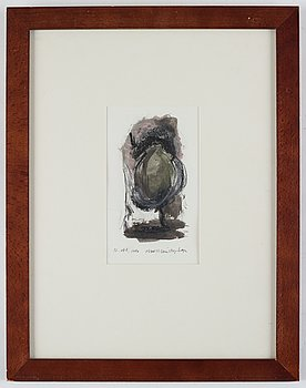 Olav Christopher Jenssen, mixed media on paper, signed and dated 12.okt.1986.