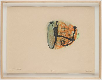 Olav Christopher Jenssen,  mixed media on paper, signed and dated 23.mars 1989.
